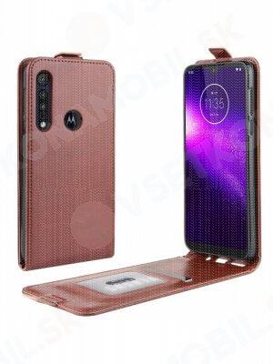 Vyklápěcí pouzdro Motorola Moto G8 Play / One Macro hnědé