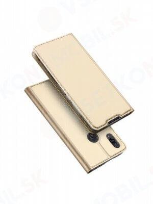 DUX Peňaženkový obal Xiaomi Redmi 7 zlatý