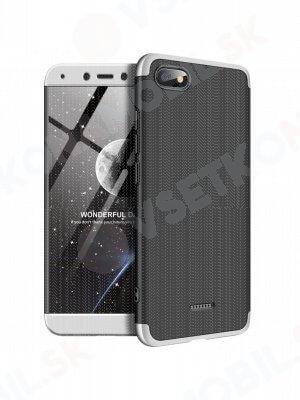 360 ° ochranný kryt Xiaomi Redmi 6A černý (stříbrný)