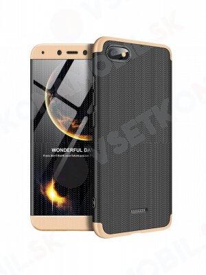 360 ° ochranný kryt Xiaomi Redmi 6A černý (zlatý)