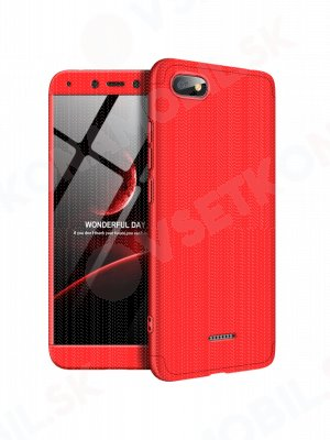 360 ° ochranný kryt Xiaomi Redmi 6A červený