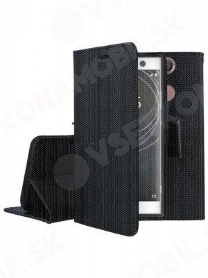 FANCY Peňaženkový kryt Sony Xperia XA2 černý