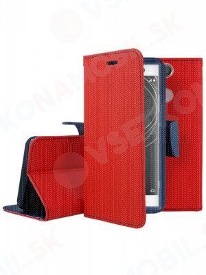 FANCY Peňaženkový kryt Sony Xperia XA2 červený