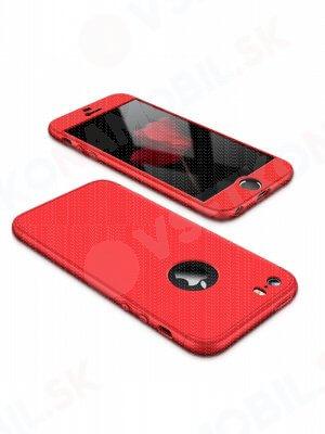 360 ° Ochranný obal Apple iPhone 5 / 5S / SE červený