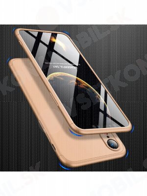 360 ° ochranný obal Apple iPhone XR zlatý