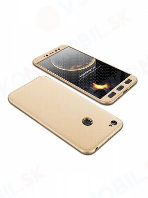 360 ° Ochranný obal Xiaomi Redmi Note 5A Prime zlatý