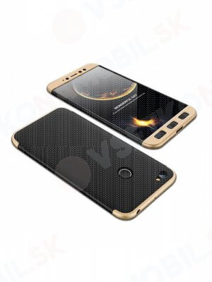 360 ° Ochranný obal Xiaomi Redmi Note 5A Prime černý (zlatý)
