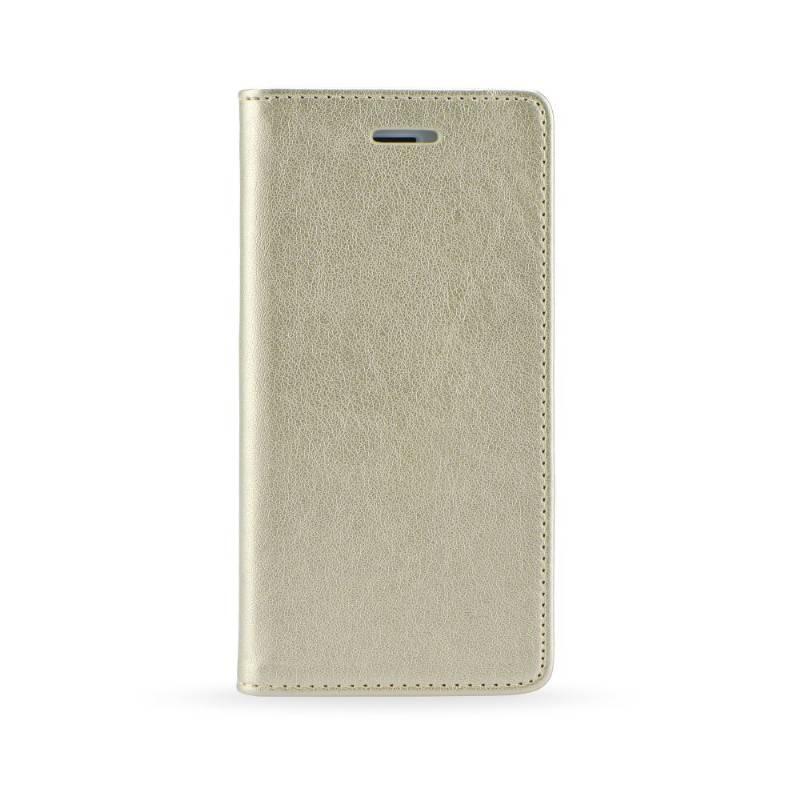 FORCELL LTHR Peňaženkový obal Huawei P10 Lite zlatý