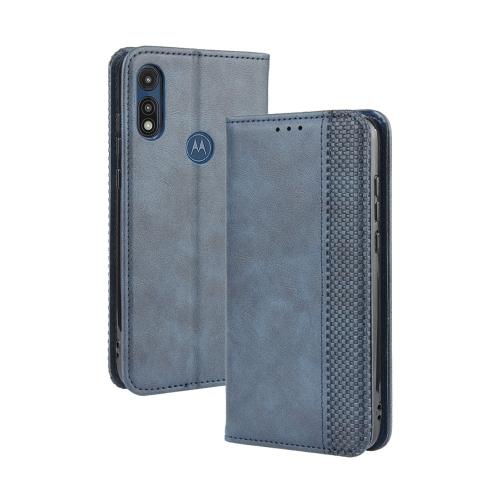 FORCELL BUSINESS Peňaženkový kryt Motorola Moto E (2020) modrý