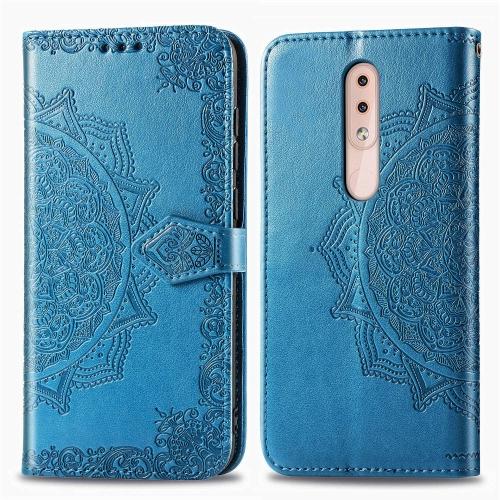 FORCELL ART Peňaženkový kryt Nokia 4.2 ORNAMENT modrý