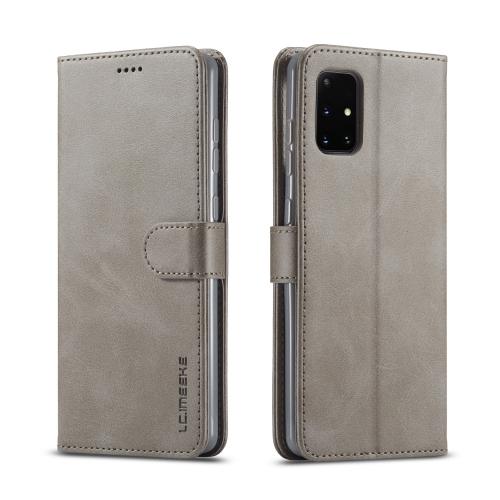 IMEEKE Peňaženkový kryt Samsung Galaxy A41 šedý
