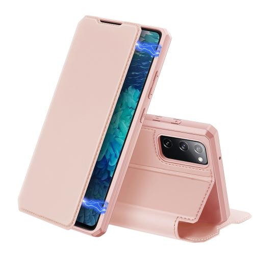 Levně FORCELL DUX SKIN X Peňaženkový kryt Samsung Galaxy S20 FE růžový