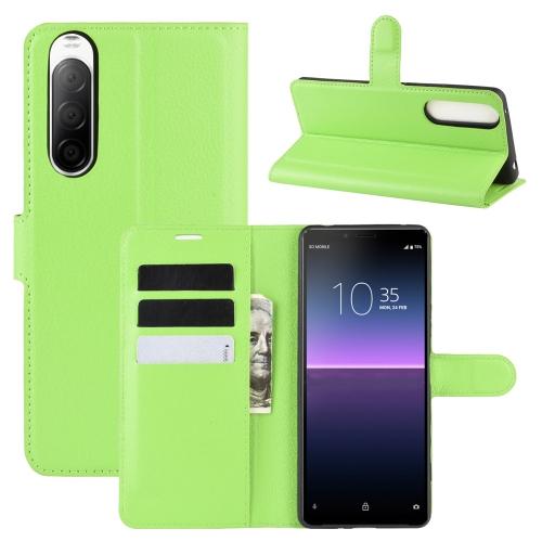 FORCELL LITCHI Peňaženkový kryt Sony Xperia 10 II zelený