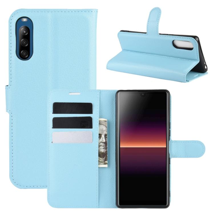 FORCELL LITCHI Peňaženkový kryt Sony Xperia L4 modrý