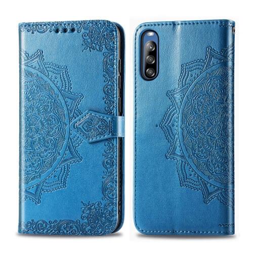 FORCELL ART Peňaženkový kryt Sony Xperia L4 ORNAMENT modrý