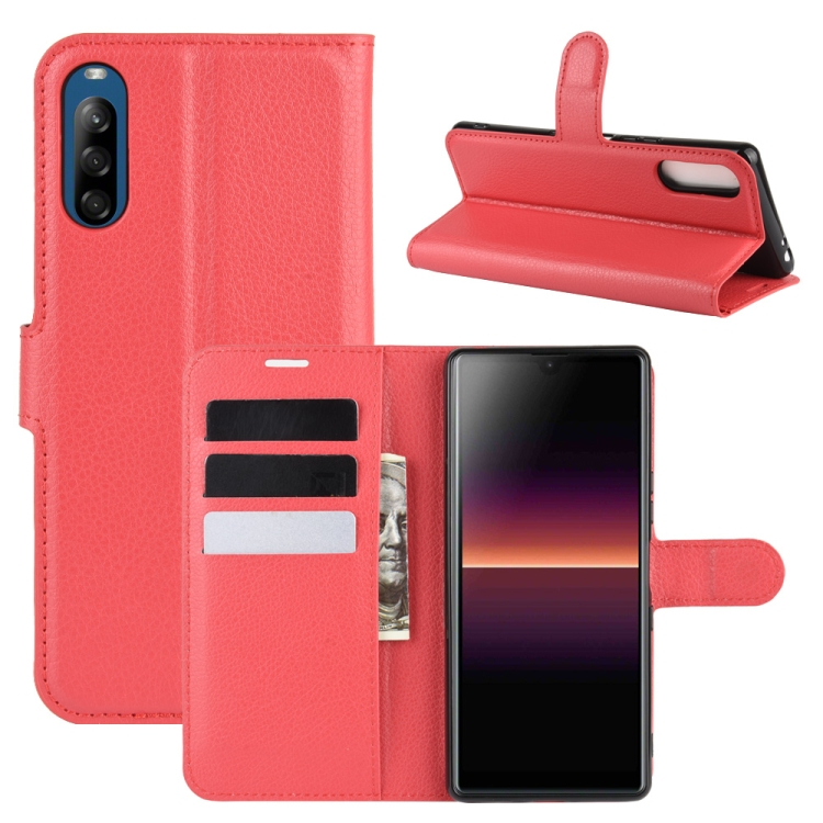 FORCELL LITCHI Peňaženkový kryt Sony Xperia L4 červený