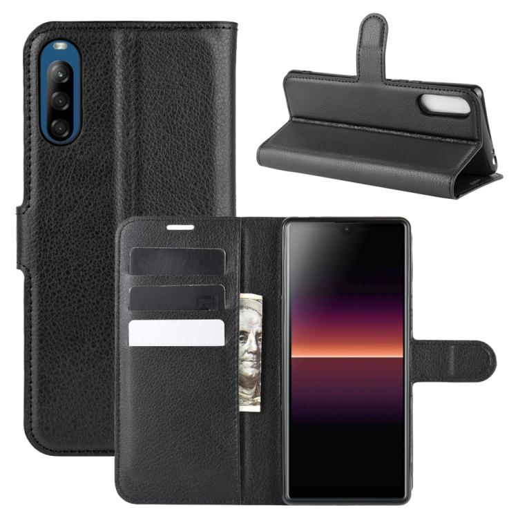 FORCELL LITCHI Peňaženkový kryt Sony Xperia L4 černý