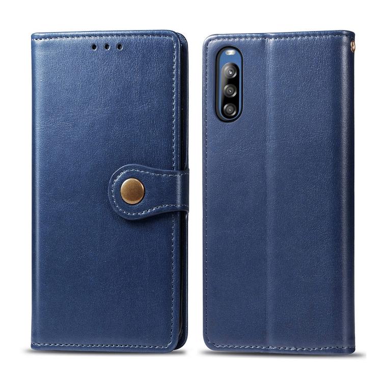 FORCELL LEATHER BUCKLE Peňaženkový obal Sony Xperia L4 modrý
