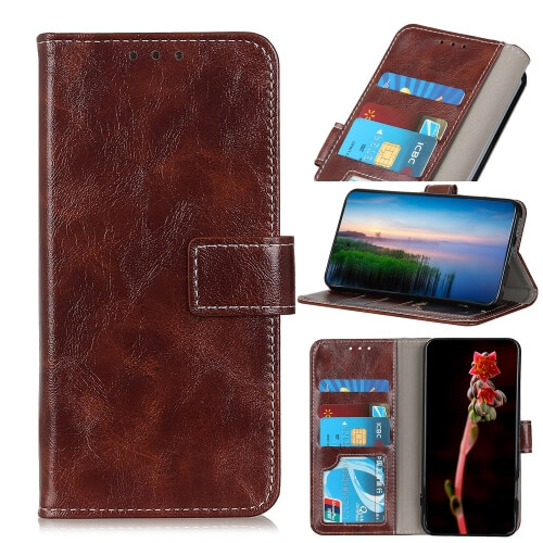 FORCELL RETRO Peňaženkový obal Sony Xperia L4 hnědý