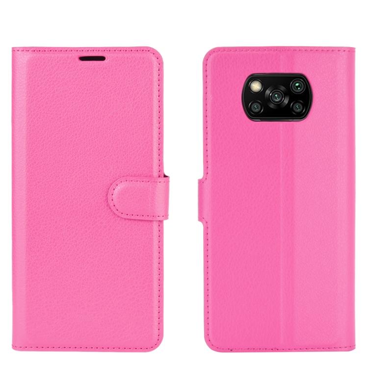 FORCELL LITCHI Peňaženkový kryt Xiaomi Poco X3 NFC ružový