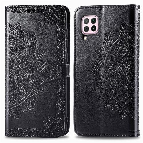 FORCELL ART Peňaženkový kryt Huawei P40 Lite ORNAMENT černý