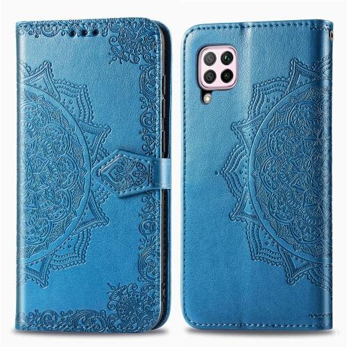 FORCELL ART Peňaženkový kryt Huawei P40 Lite ORNAMENT modrý