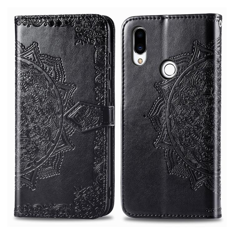 FORCELL ART Peňaženkový kryt Meizu Note 9 ORNAMENT černý