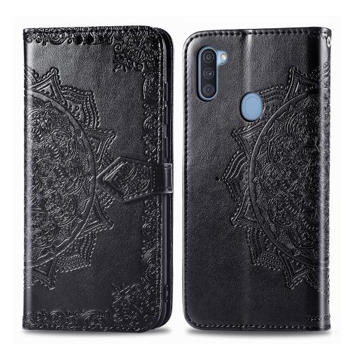 FORCELL ART Peňaženkový kryt Samsung Galaxy A11 / M11 ORNAMENT černý
