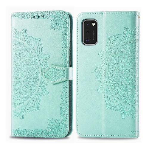 FORCELL ART Peňaženkový kryt Samsung Galaxy A41 ORNAMENT zelený