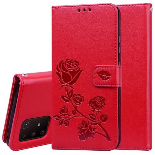 FORCELL ART Peňaženkový obal Samsung Galaxy S10 Lite FLOWERS červený
