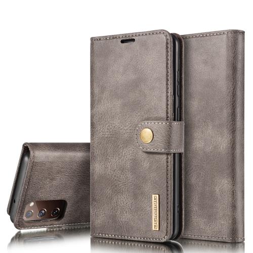 FORCELL DG.MING Peňaženkový obal 2v1 Samsung Galaxy S20 FE šedý