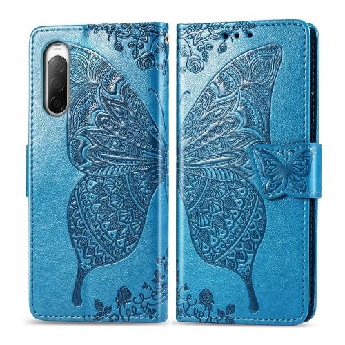 FORCELL ART Peňaženkový kryt Sony Xperia 10 II BUTTERFLY modrý