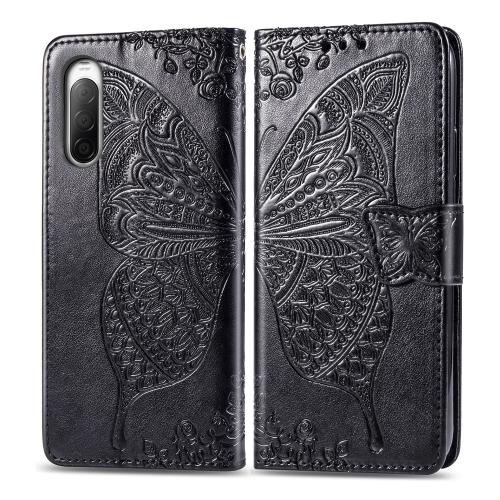 FORCELL ART Peňaženkový kryt Sony Xperia 10 II BUTTERFLY černý