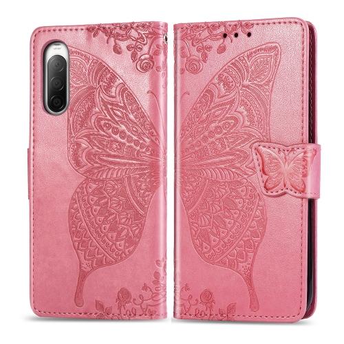 FORCELL ART Peňaženkový kryt Sony Xperia 10 II BUTTERFLY růžový