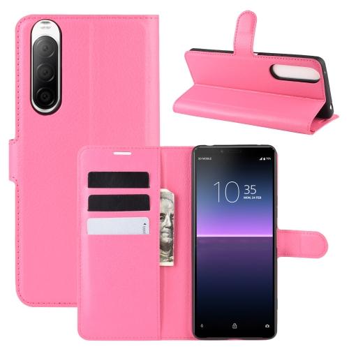 FORCELL LITCHI Peňaženkový kryt Sony Xperia 10 II růžový