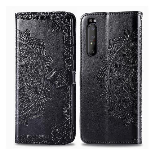 FORCELL ART Peňaženkový kryt Sony Xperia 1 II ORNAMENT černý