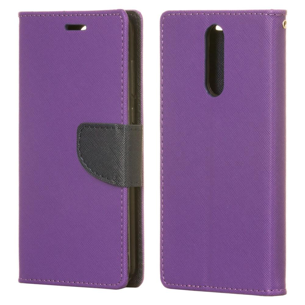 FORCELL FANCY Peňaženkový Kryt Huawei Mate 10 Lite fialový