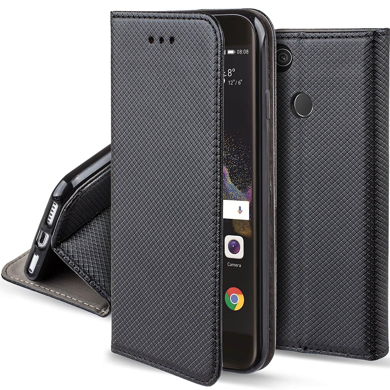 FORCELL MAGNET Peňaženkové púzdro Huawei P9 Lite 2017 čierne