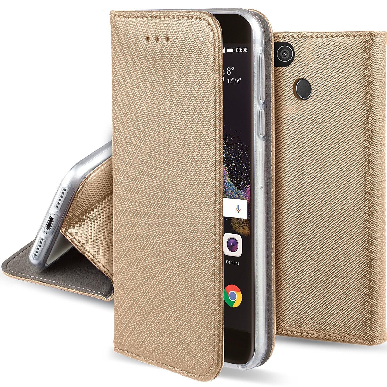 FORCELL MAGNET Peňaženkové pouzdro Huawei P8 Lite 2017 / P9 Lite 2017 zlaté