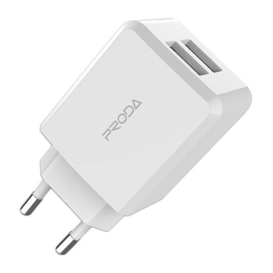 REMAX PRODA Linshu PRO Síťová nabíječka 2x USB bílá