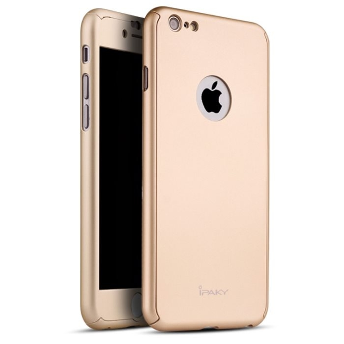 IPAKY 360 ° Obal Apple iPhone 6 Plus   6S Plus zlatý bd4cc5c6802
