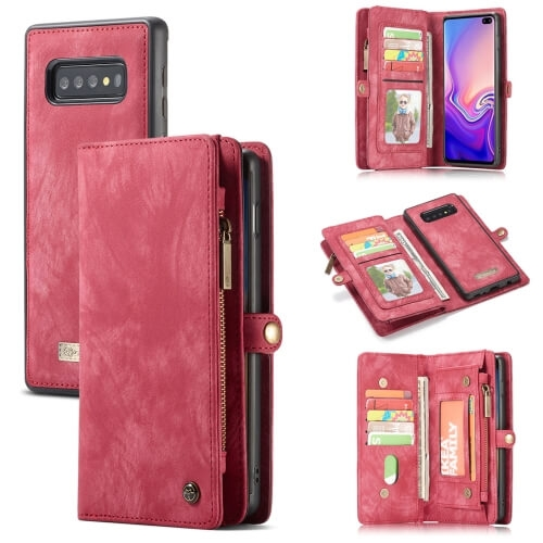 FORCELL WALLET Obal s peňaženkou 2v1 pre Samsung Galaxy S10 Plus červený