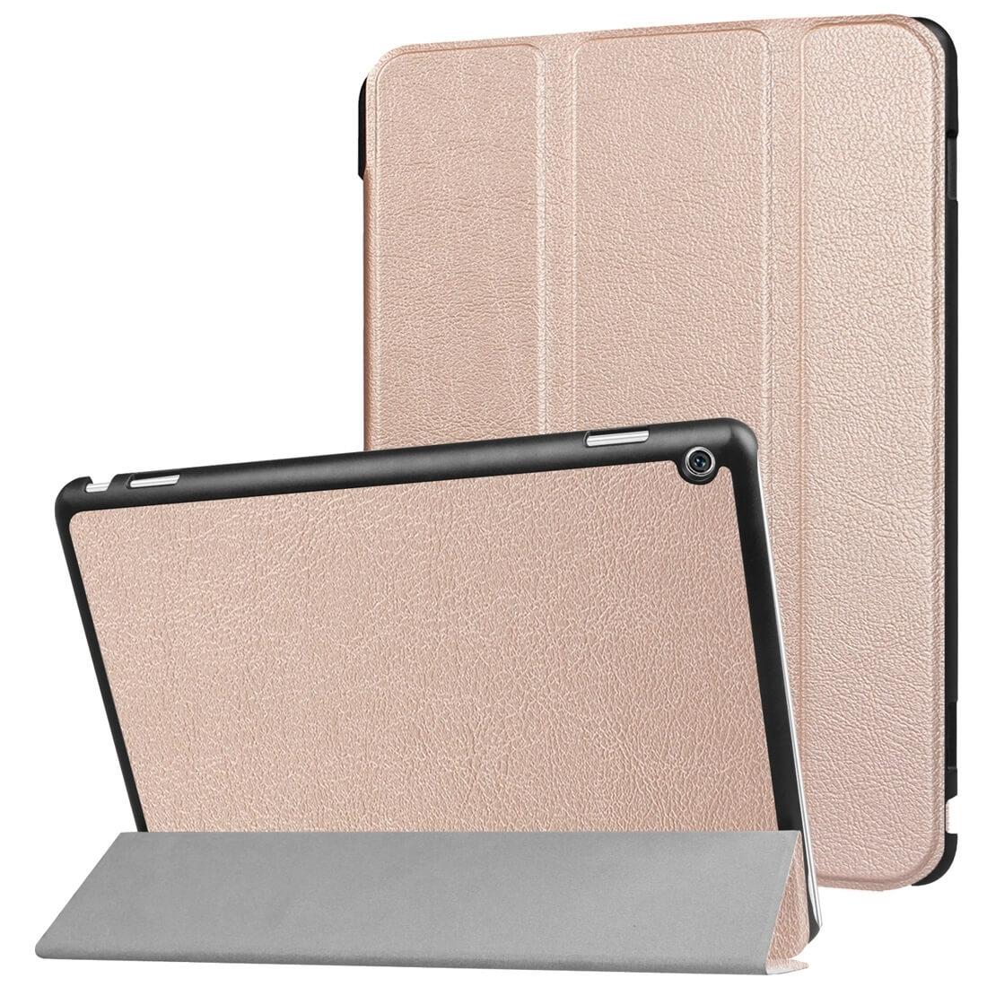 """FORCELL LEATHER zaklapovací obal Huawei MediaPad M3 Lite 10 """"růžový (Rosegold)"""