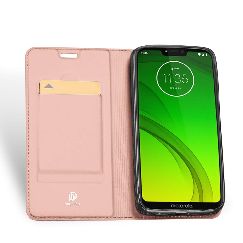 DUX Peňaženkový obal Motorola Moto G7 Power růžový