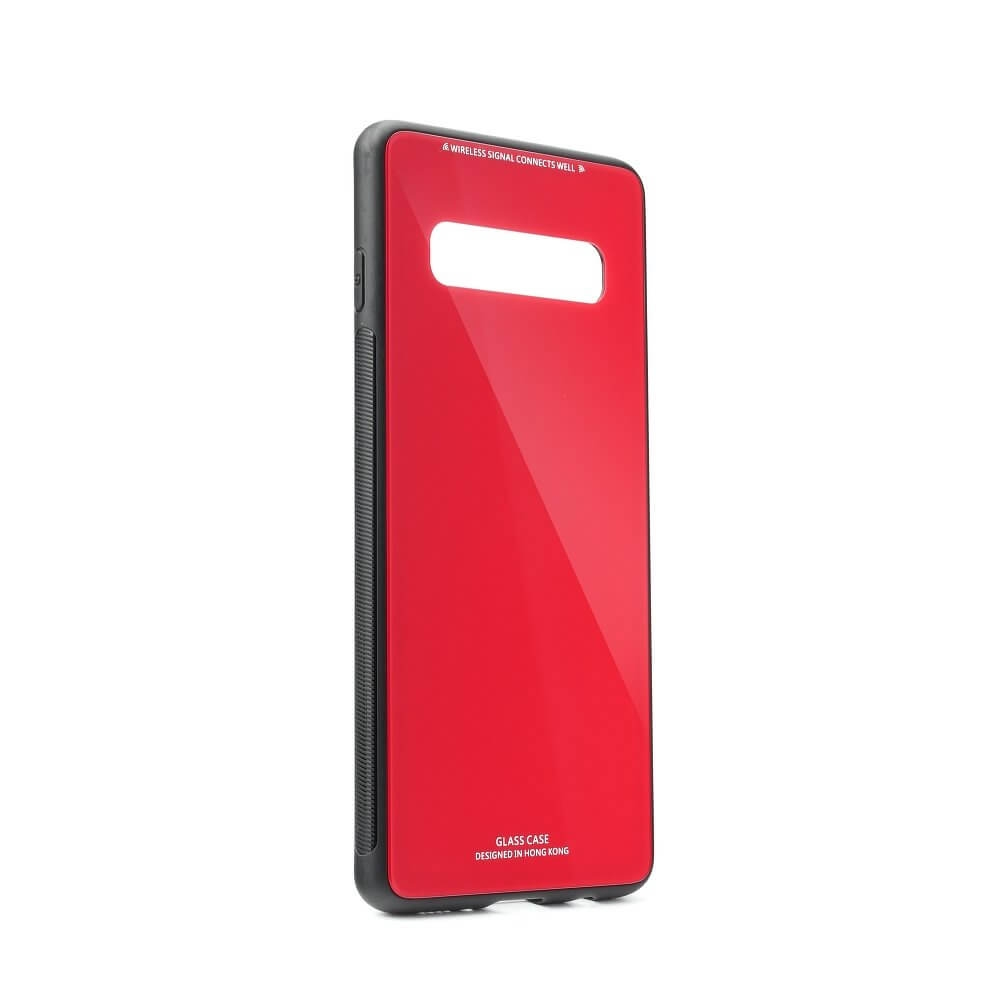 FORCELL TEMPERED GLASS kryt Samsung Galaxy S10 červený