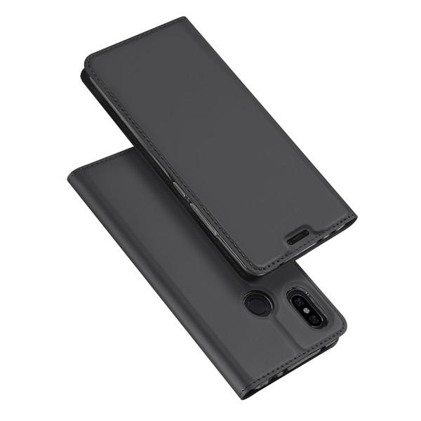 DUX Knížkové pouzdro Xiaomi Redmi Note 6 Pro šedé