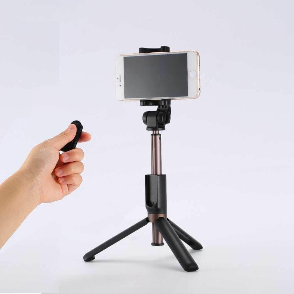 REMAX P9 Bluetooth selfie tyč so statívom čierna