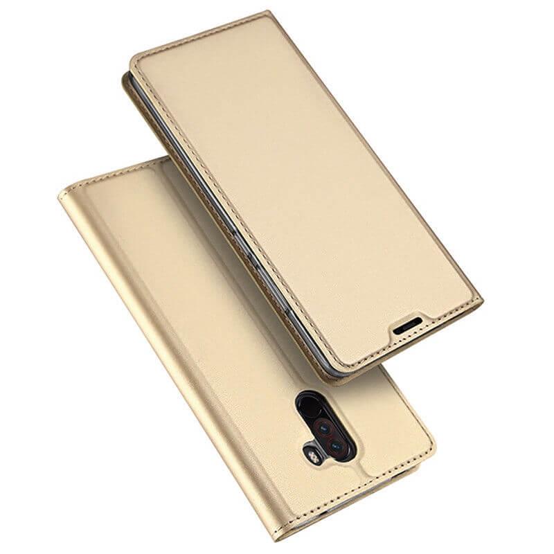 DUX flipových pouzdro Xiaomi Pocophone F1 zlatý