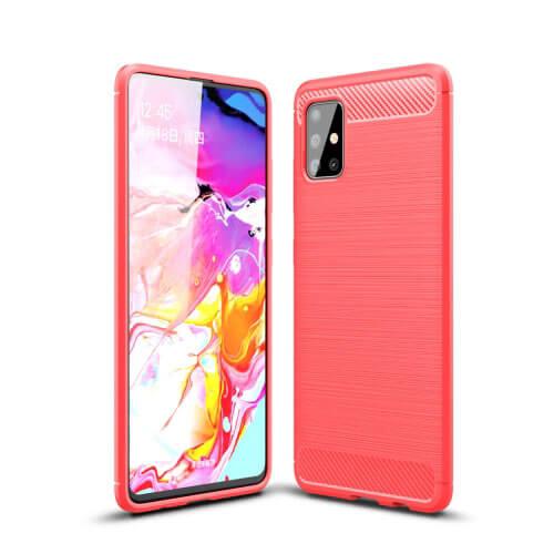 FORCELL FLEXI TPU Obal Samsung Galaxy A51 červený
