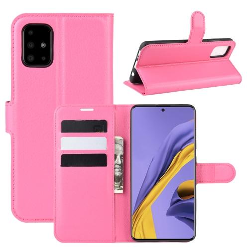 FORCELL LITCHI Peňaženkové puzdro Samsung Galaxy A51 ružové